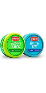 O'Keeffe's Working Hands and Healthy Feet Jar Combo
