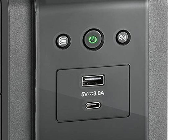 3 Soft-touch Buttons and USB Ports