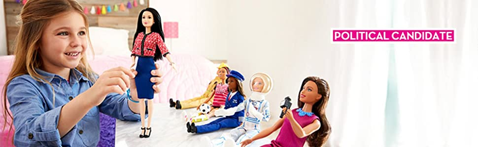 Lead Playtime Fun with Barbie Political Candidate Doll!