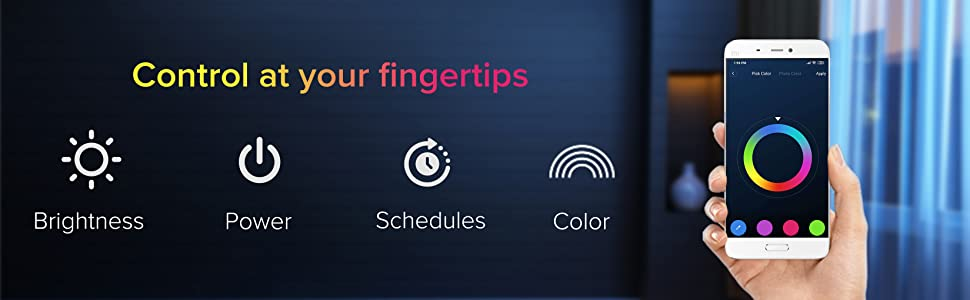 Control at your fingertips, color adjustment