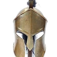 Knight Helmet Great King Leonidas Sparta 300 Movie Helmet Spartan Helmet  Copper Finish