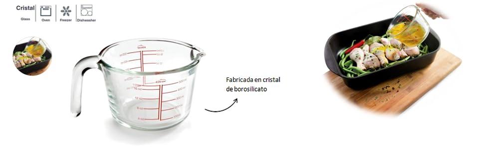 Compra Lacor 67133 - Jarra medidora, Cristal de borosilicato, 05 ...