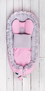 Belisima 5902012148143 Bunny Nido para beb/é Color Gris y Rosa