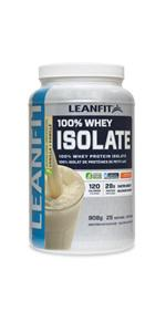 LeanFit 100% Whey Isolate Protein