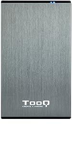 TooQ TQE-2527B - Carcasa para discos duros HDD de 2.5