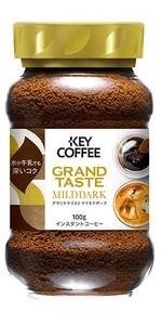 キーコーヒー インスタントコーヒー グランドテイスト マイルドダーク 瓶 100g×3本