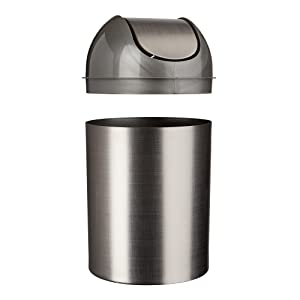 trash can, small trash can, trash can with lid, trash can for bathroom, bathroom trash can