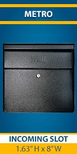 Metro Wall Mount Locking Residential Mailbox