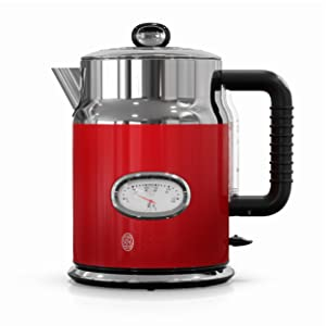 Russell Hobbs CM3100RDR Retro Style Coffeemaker, 8-Cup, Red