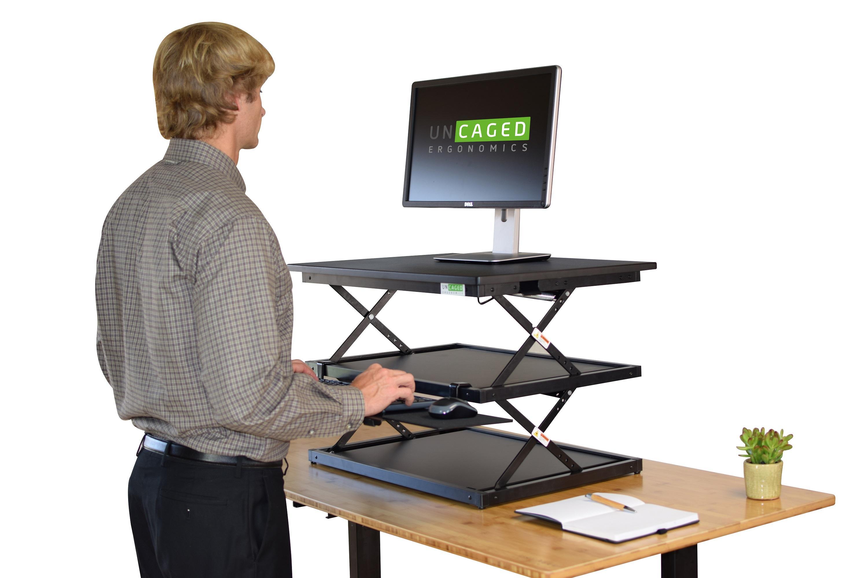 Changedesk Tall Ergonomic Standing Desk Converter With