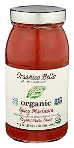 pasta tomato spaghetti sauce organic marinara spicy whole 30