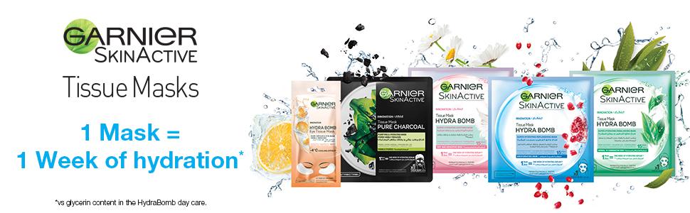 Garnier Skin Active Tissue Masks Range