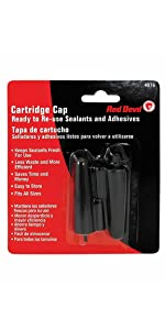 Red Devil 4076 Caulk Cartridge Caps, Black