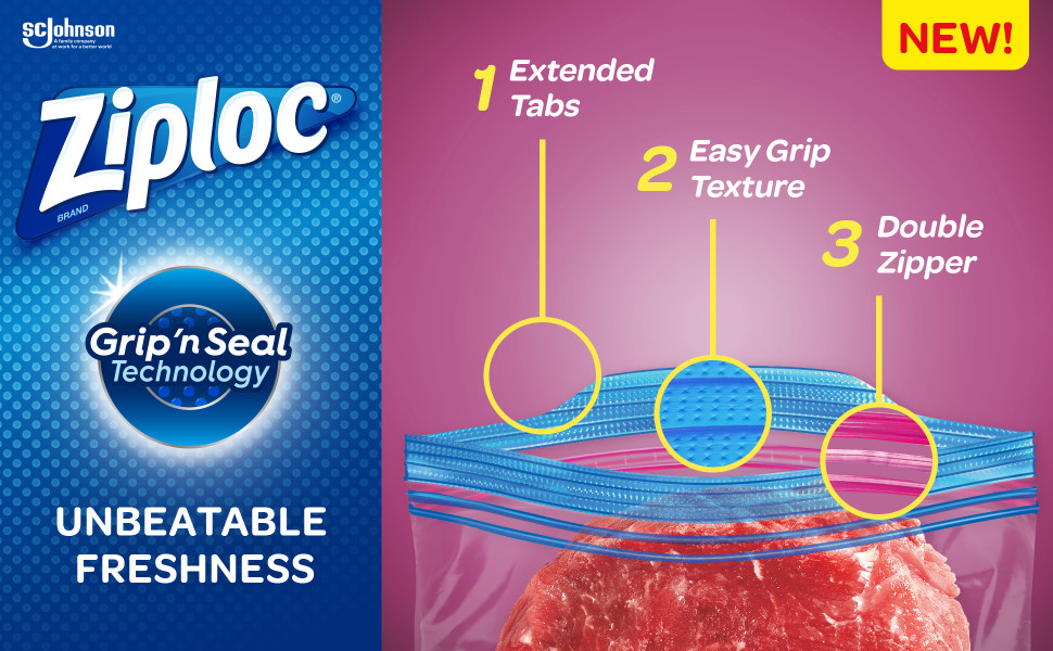 Ziploc Brand Freezer Quart Bags