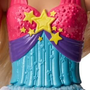 Barbie Muñeca Princesa falda azul arcoiris