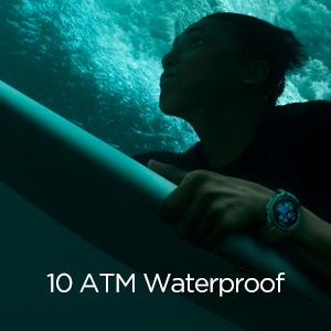 10 ATM Waterproof