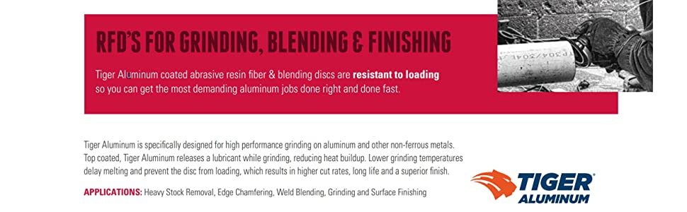 Weiler Tiger Aluminum Resin Fiber Griding Discs