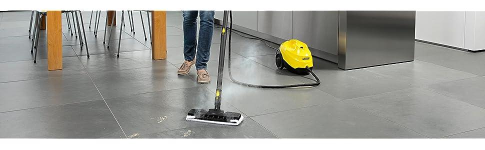 Karcher, Kärcher, SC, 3, limpiador, vapor, vaporeta, limpieza, hogar, suelos