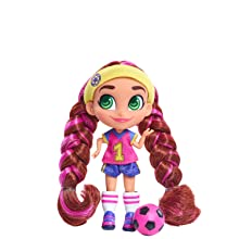 hairdorables, youtube show, collectible doll, brit, sports, soccer player, tomboy, pigtail braids