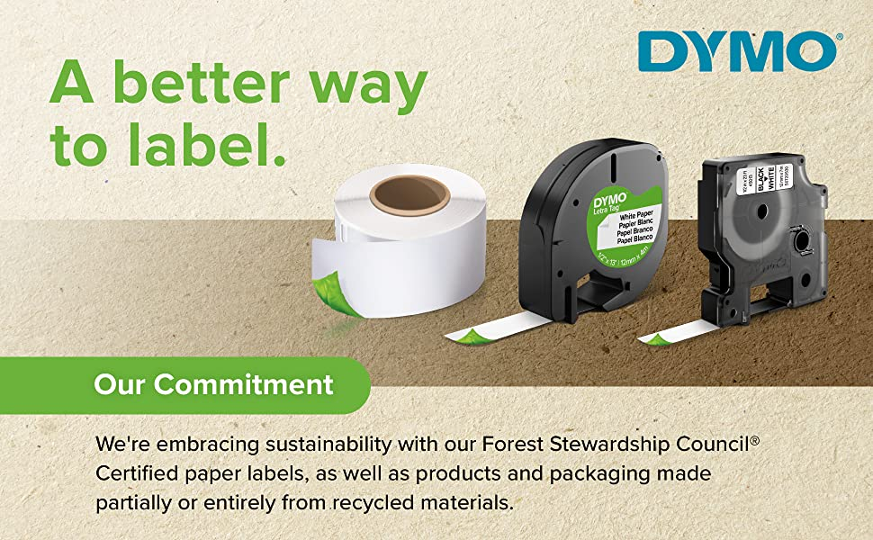 DYMO: A better way to label, commitment to sustainability