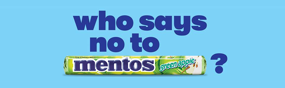mentos chewy mint green apple
