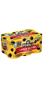Ripe Pitted, Large Black Olives