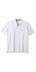 classic fit performance deck solid short sleeve knit polo shirt men stretch cotton polyester striped
