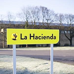 La Hacienda location warehouse office work brand company green yellow trees cotswold stroud