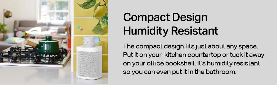 Sonos One - Compact Design Humidity Resistant