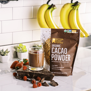 organic cacao powder betterbody foods smoothie protein shake