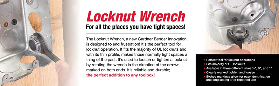 lock;nut;locknut;wrench;home improvement;tools;tool;hand tool;wrenches;1/2;1;3/4;inch;gardner bender