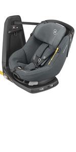Bebe Confort Axissfix Plus Kinderautositz Isofix 0 18 Kg Um 360 Drehbar Neigbar I Size Zulassung Für Kinder Von 0 Bis 4 Jahren Autositz Authentic Graphite Baby