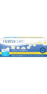 Natracae Organic Super non applicator tampn 20 count