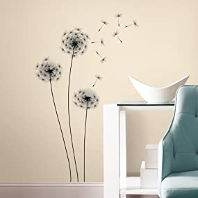 Floral Peel And Stick Wall Decals, Peel And Stick Wall Decals. Dandelion ...