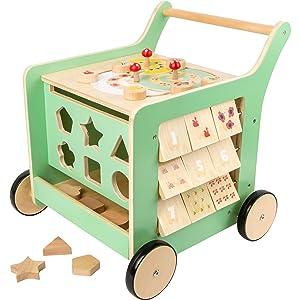 Pastel wooden baby walker