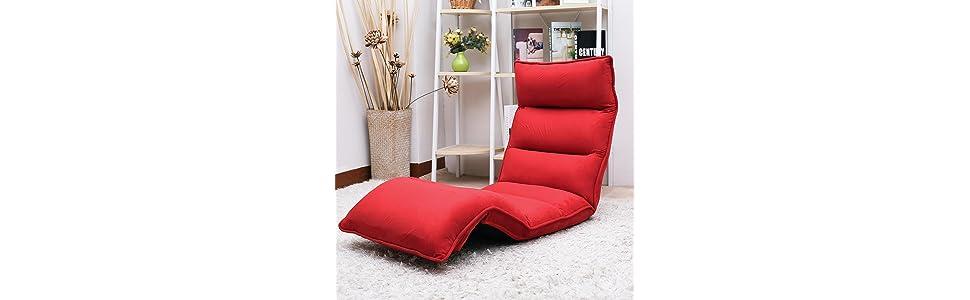 merax fabric folding chaise lounge