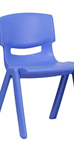 Kids Blue Plastic Stack Chair