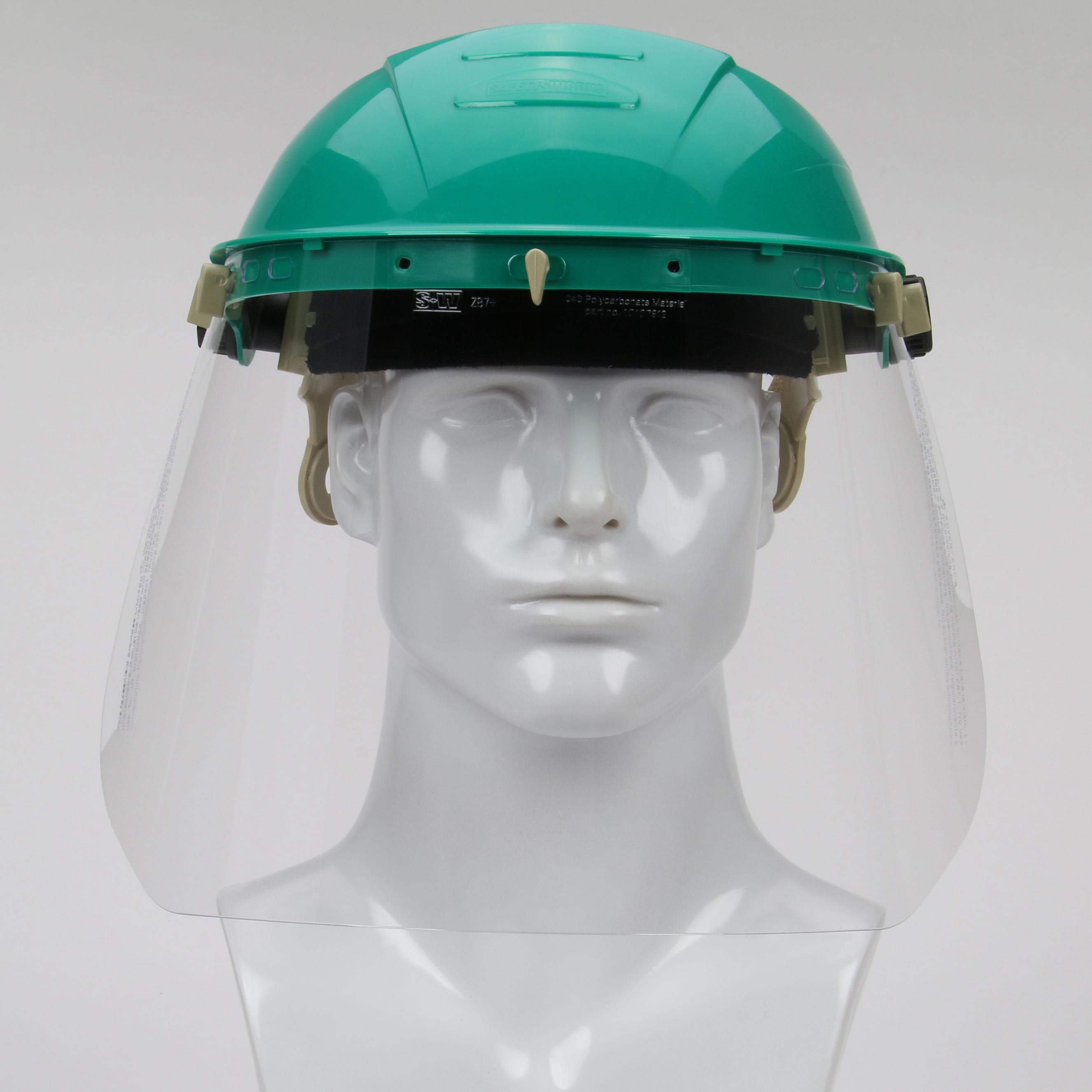 8e524ff1 Safety Works Adjustable Headgear with Faceshield - Job Site Safety ...