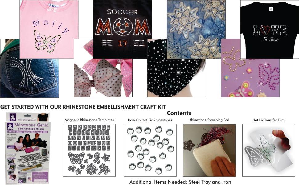 Items decorated with rhinestones