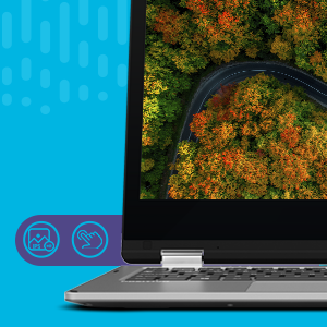Notebook 2 em 1 Positivo Duo Q432A Flexibilidade em todos os ângulos