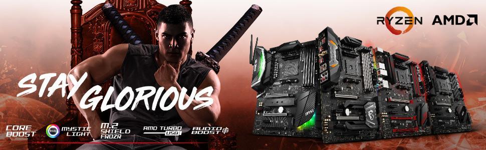 MSI X470 Gaming Plus Performance GAMING AMD X470 Ryzen 2 AM4 DDR4 Onboard  Graphics CFX ATX Motherboard | 911-7B79-011 / 911-7B79-002
