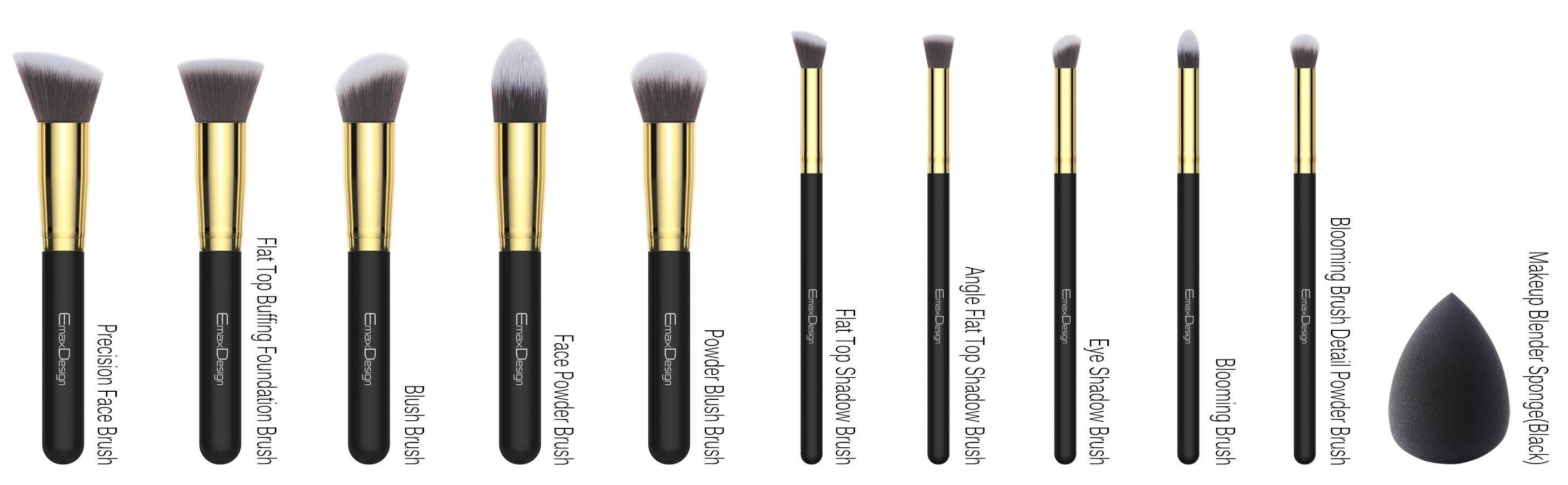 Amazon Com Emaxdesign Makeup Brushes 10 1 Pieces Makeup