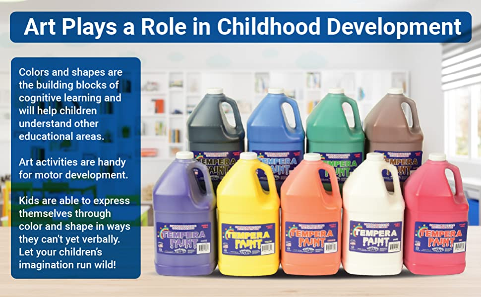 constructive playthings tempera paint, kids paint, paint for kids, tempera gallon paints