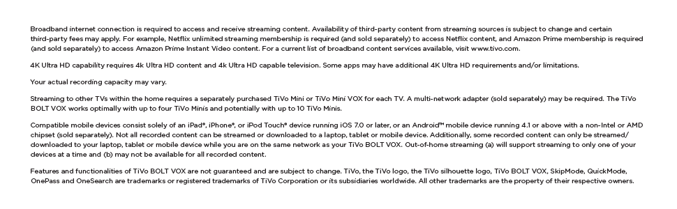 Tivo Bolt Vox For Cable 1tb Dvr And 4k Streaming Device In One Amazon Ca Electronics
