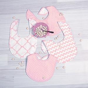 Pink Sky 4 Pack Burp Cloth Set