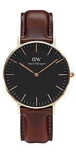 dw, daniel wellington, bristol, brown leather, classic bristol, italian leather watch