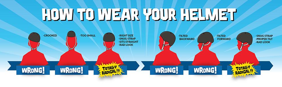helmet safety, how to wear your helmet