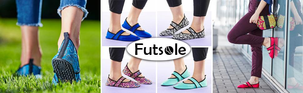 36c7dad27c9 Amazon.com  Futsoles by Nufoot Women s Soft-Sided Shoes for Indoors ...