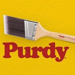 Purdy  XL Swan  4 in W Flat  Nylon Polyester  Paint Brush