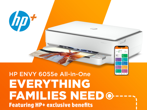 envy 6055e all in one printer hp+